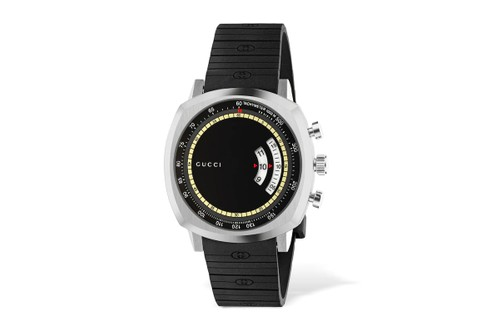 Gucci Gets Sporty With Its GG Grip Rubber Strap Watch