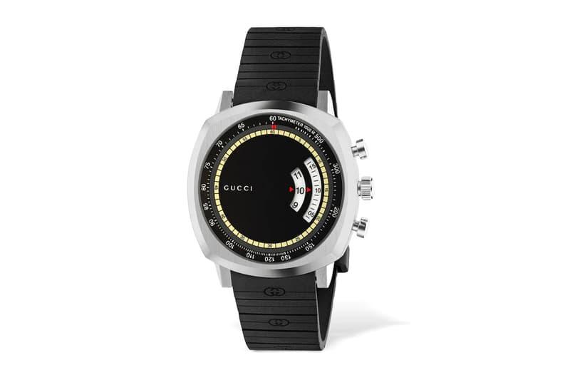 Gucci GG Grip Rubber Strap Watch Release Info Black Buy Price YA157301