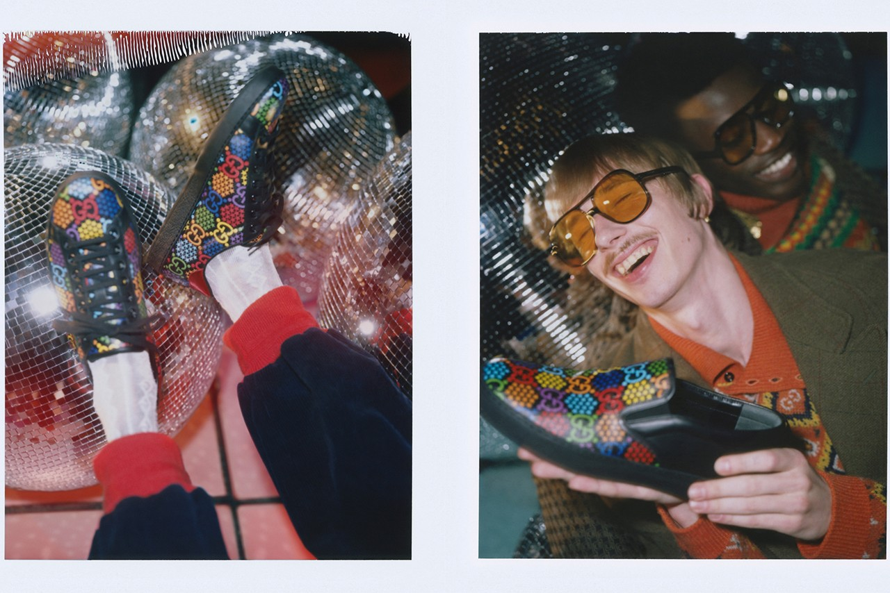 Gucci Psychedelic Selfridges Corner Shop First Look Open Now London Stores Guccified Alessandro Michele 1970s Psychedelia Studio 54 References Night Club Prints Capsule Collection Campaign Imagery