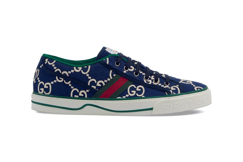 Gucci Tennis 1977 Sneaker Release Information Drop Gucci Alessandro Michele Archive Footwear Italian House Label Designer Shoes Disney Mickey Mouse GG Print