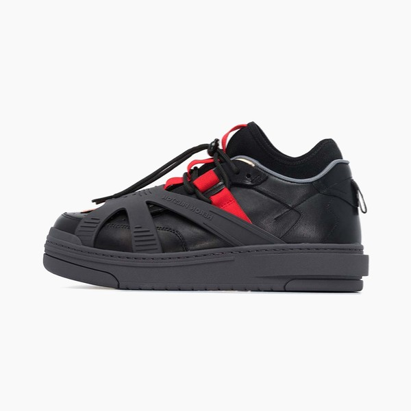 Heron Preston Black Protection Low-Top Leather Sneakers
