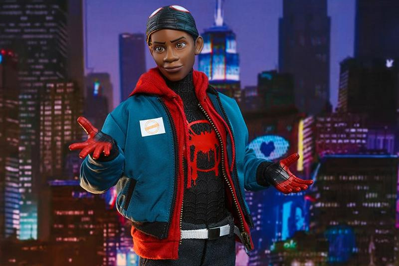 hot toys miles morales spider man into the spider verse action figure 1 6th