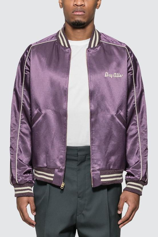 HUMAN MADE Purple Varsity Satin Jacket