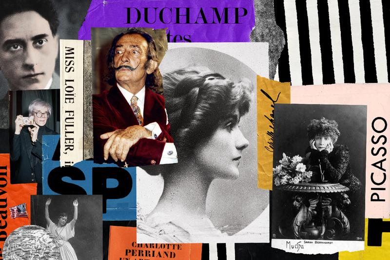 Inside Chanel Gabrielle Chanel & the Arts Film Episode 27 Series Collage Salvador Dali Picasso Andy Warhol