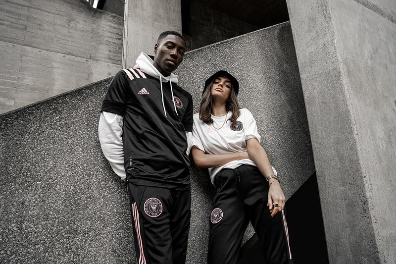 inter miami mls david beckham adidas football soccer release information pro direct soccer black white pink buy cop purchase order now first match team details