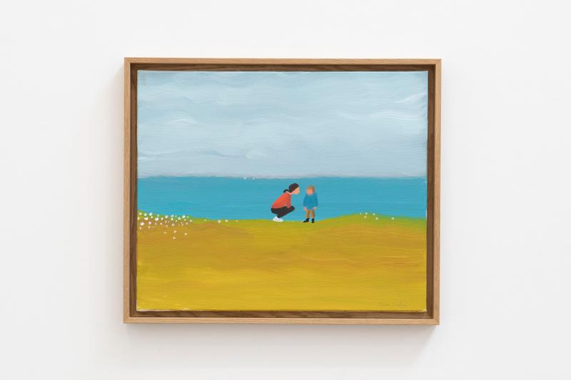 "Jean and Nicolas Jullien Galerie Slika Exhibit ""Les Sources"" Paintings Wood Sculptures Waves Shells Dog Pear Bottle Can Waves Landscape Ocean"