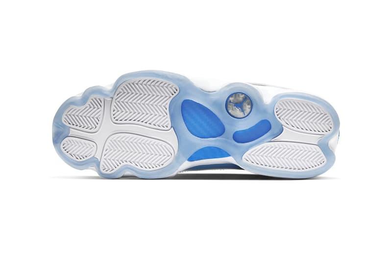 Jordan Brand 6 Rings UNC Colorway White Valor Blue Ice White CW7037 100 nike footwear shoes sneakers basketball checks trainers runners michael jordan north carolina CW7037 100
