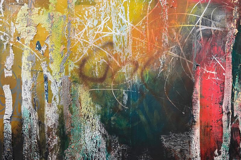 jose parla its yours exhibition the bronx musum of art graffiti calligraphy gestural art contemporary paintings
