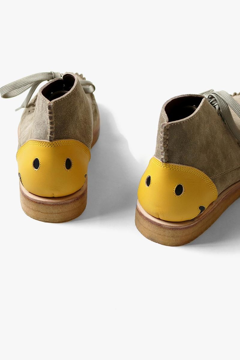 KAPITAL Suede Smiley Desert Boots footwear menswear shoes streetwear style Japanese designer spring summer 2020 collection capsule sneakers trainers moccasins suede leather
