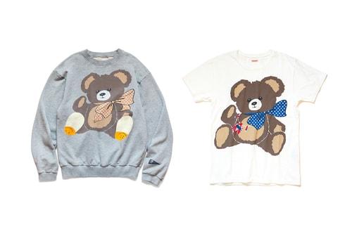 KAPITAL Emblazons Bold Teddy Bear Print Over Sweater & T-shirts