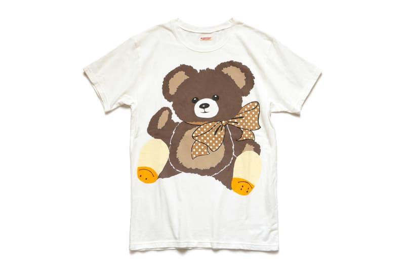 KAPITAL Sweater T shirt Teddy Bear Print tees crewnecks pullover kountry active fleece cotton japanese designers fall winter 2020 collection kiro hirata dyed gray navy white americana
