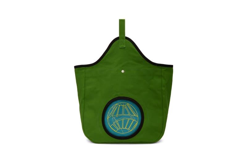 Kiko Kostadinov Aristides Embroidery Tote Green blue Black pink release ssense