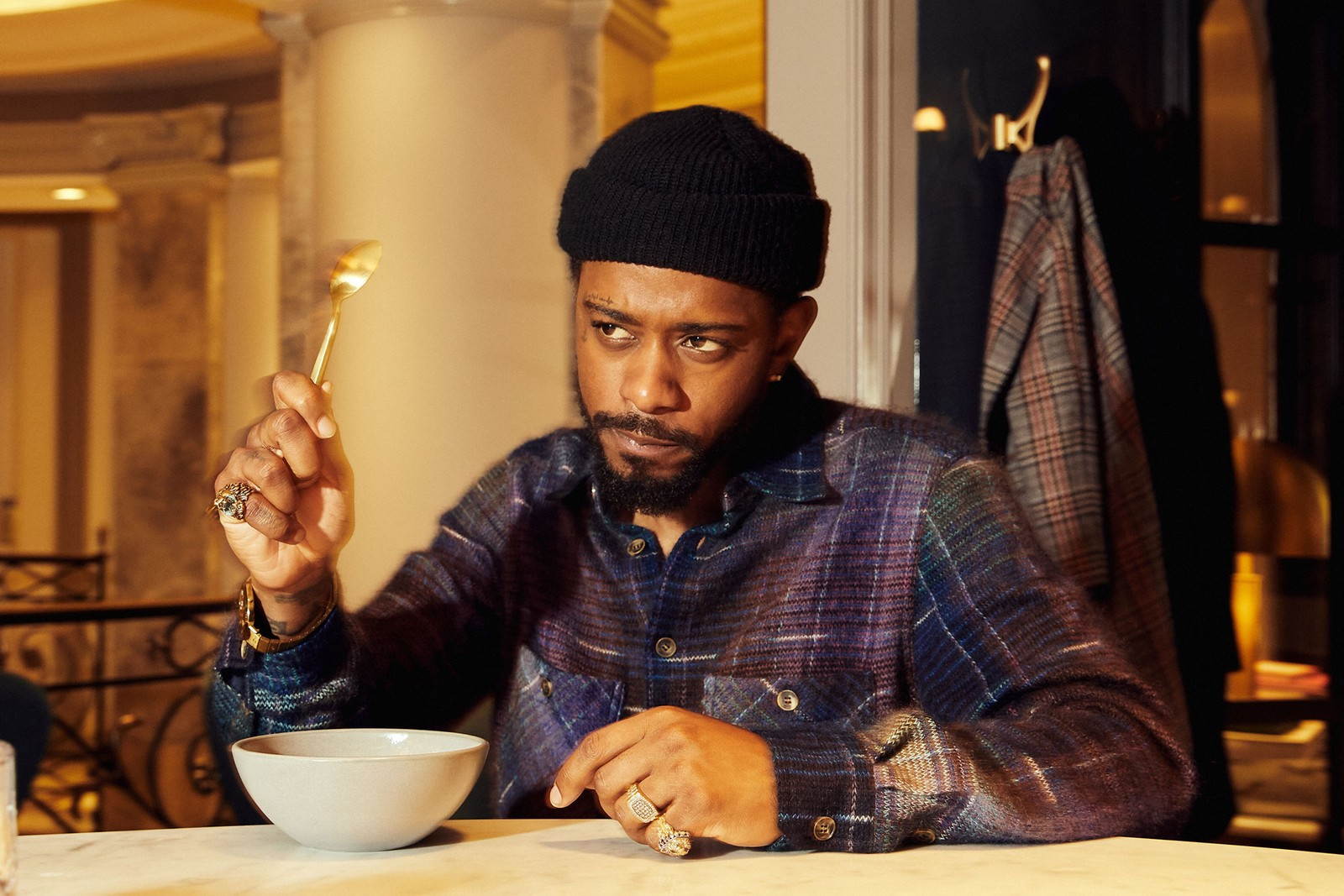 lakeith stanfield the photograph press interview atlanta issa rae bergdorf goodmans bar sorry to bother you