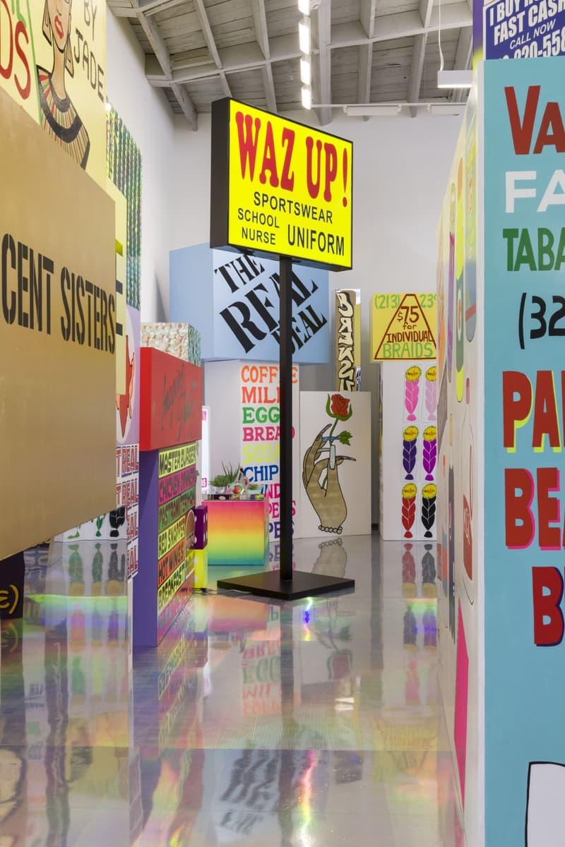 lauren halsey exhibition david kordansky gallery artworks paintings signage