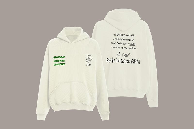 Lil Peep ROSE IN GOOD FAITH Greenpeace Capsule Collection Release Info Buy Price RIGF