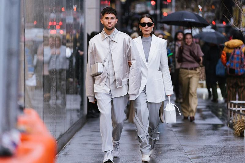 look of the week hypebeast outfit mens monochrome monochromatic style inspiration 2020