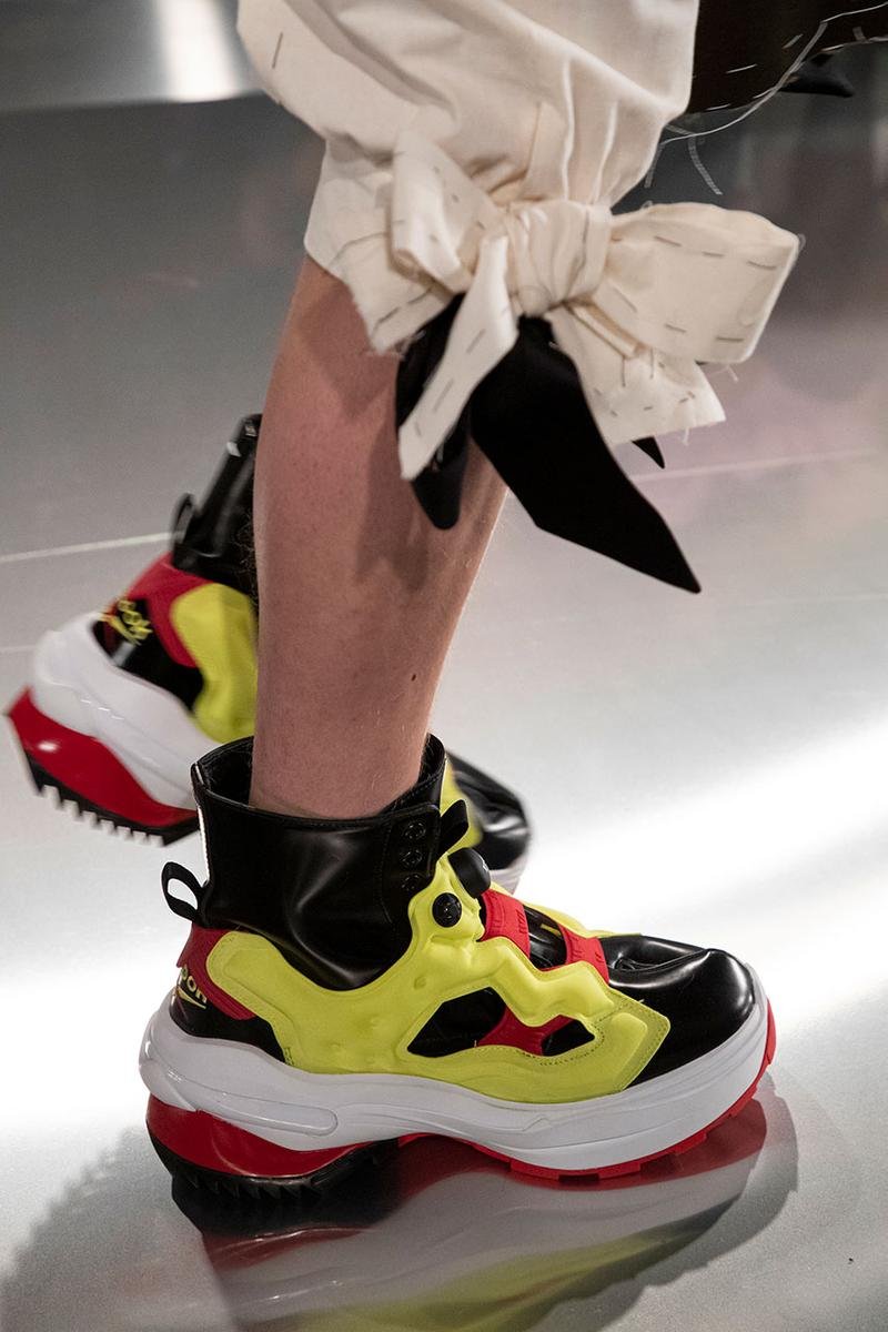 Maison Margiela x Reebok Tabi Instapump Fury Collaboration Sneaker Fall winter 2020 fw20 mens womens september release date colorways