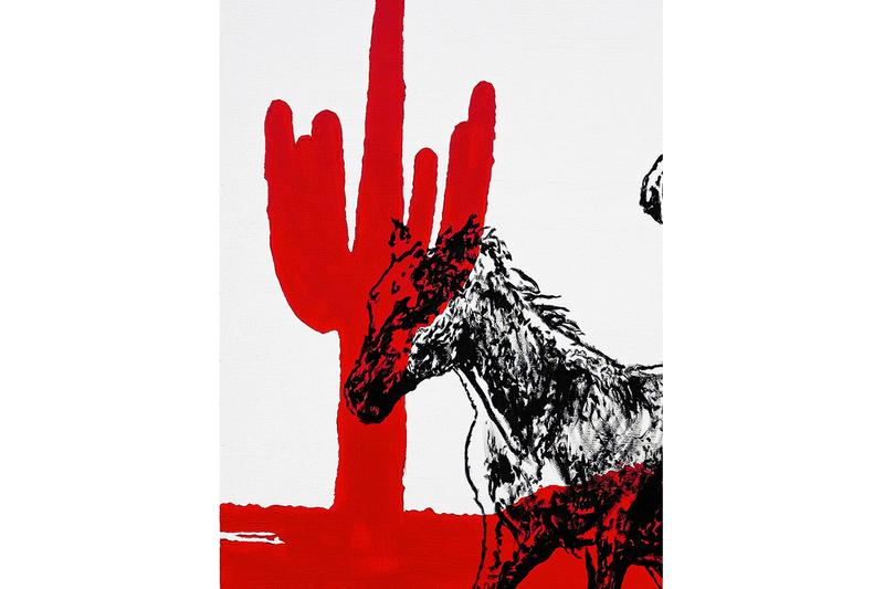 Matt McCormick Somewhere I Can Walk Alone And Leave Myself Behind Edition Print cathartic red cactus Neil Young crazy horse country home