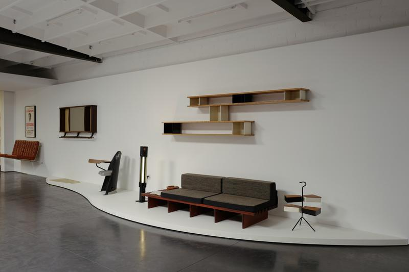 """Maxfield Gallery LA Exhibition """"Furnished Room"""" Furniture Chairs Tables Fixtures Eames Frieze LA"""