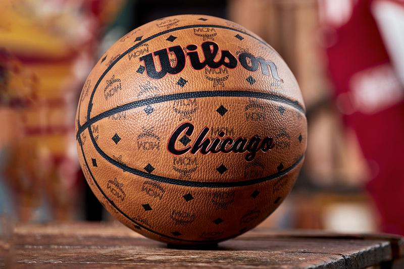 mcm worldwide wilson chicago basketball all star weekend collectors edition visetos pattern premium composite leather city wilson logos