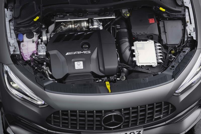 2021 2020 geneva motor show mercedes benz amg gla 45 crossover four cylinder engine powertrain