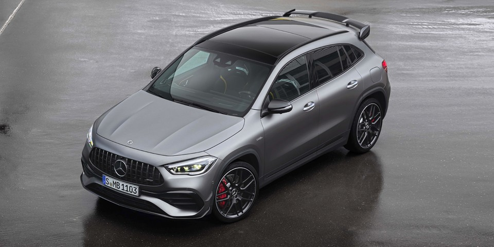The 2021 Mercedes-AMG GLA 45 Carries a Menacing Four-Cylinder Engine