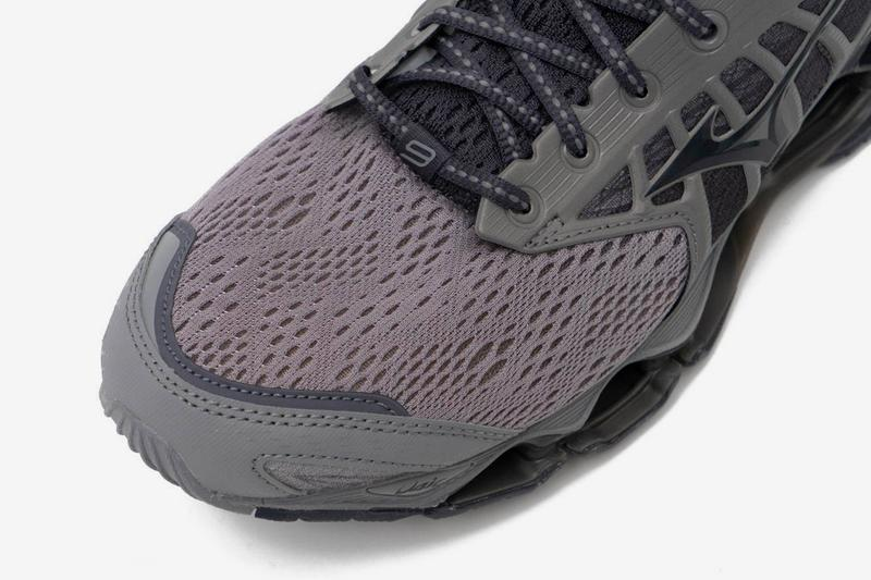 Mizuno Wave Prophecy 9 Gray futuristic runners trainers sneakers shoes footwear running menswear streetwear spring summer 2020 collection kicks technical jogging responsive sole