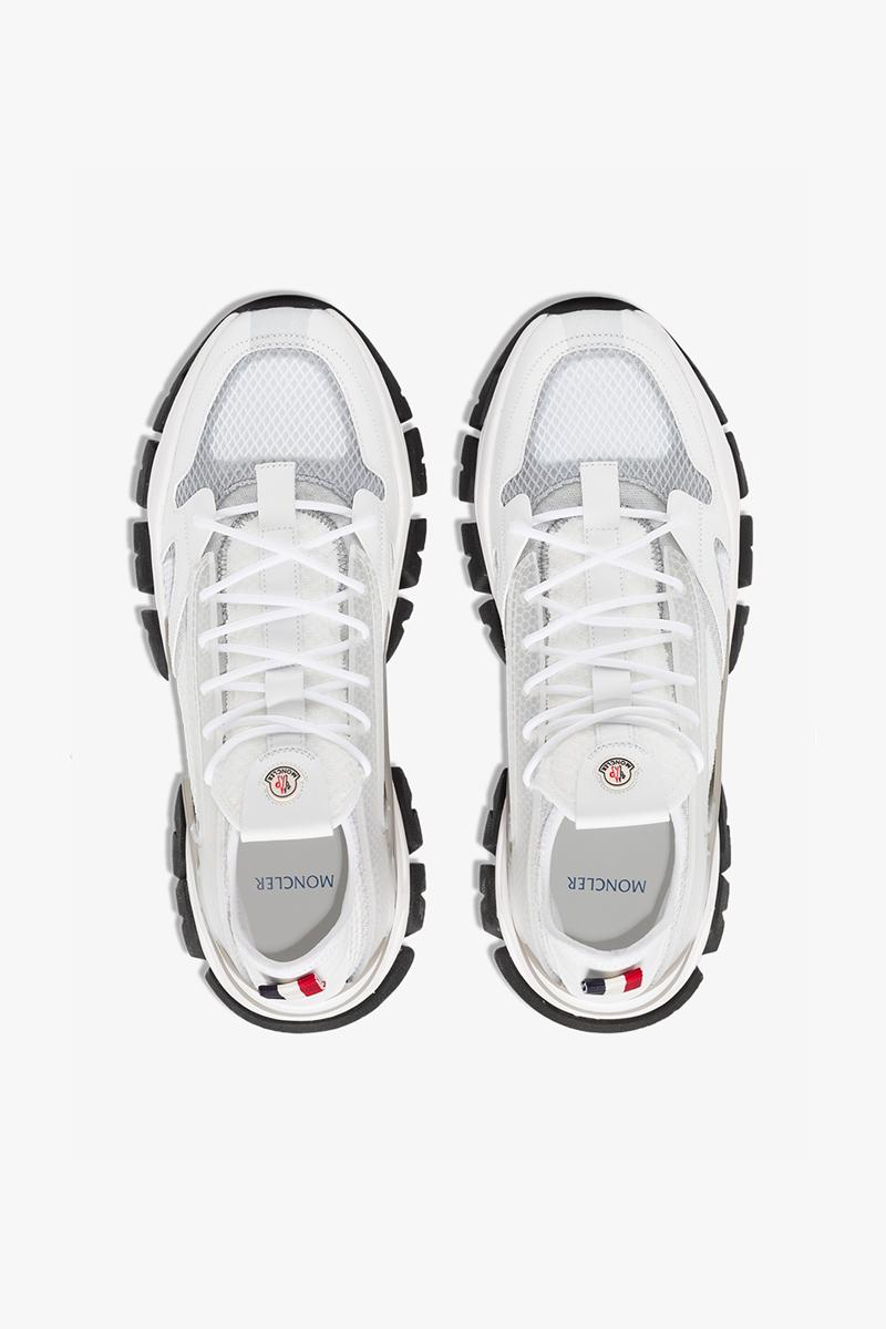 Moncler Trevor Sneakers White Gray sneakers footwear shoes kicks trainers runners spring summer 2020 collection mountaineering made in italy alpine outdoor sportswear red white blue