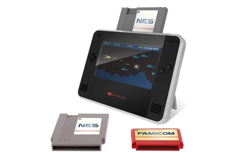my arcade retro champ NES nintendo portable console gaming retro vintage games cartridges