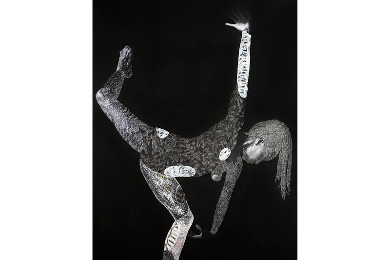 """Nate Lewis """"Latent Tapestries"""" Fridman Gallery Solo Exhibition Photography Paper Frottage Graphite Ink Figures Horse Confederate Monuments 'Signaling' 'Probing the Land'"""