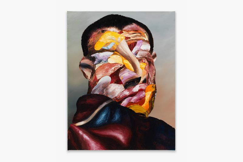 """Nathaniel Mary Quinn Exhibition """"Soil, Seed, and Rain"""" Rhona Hoffman Gallery Paintings Expressionistic Cubism Deconstruction Portraits"""