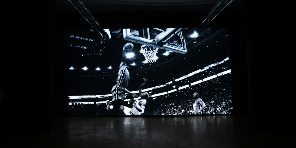 "James Harden Curates Video-Wall Installation for ""MOMENTUM"" NBA All-Star Weekend Exhibition"
