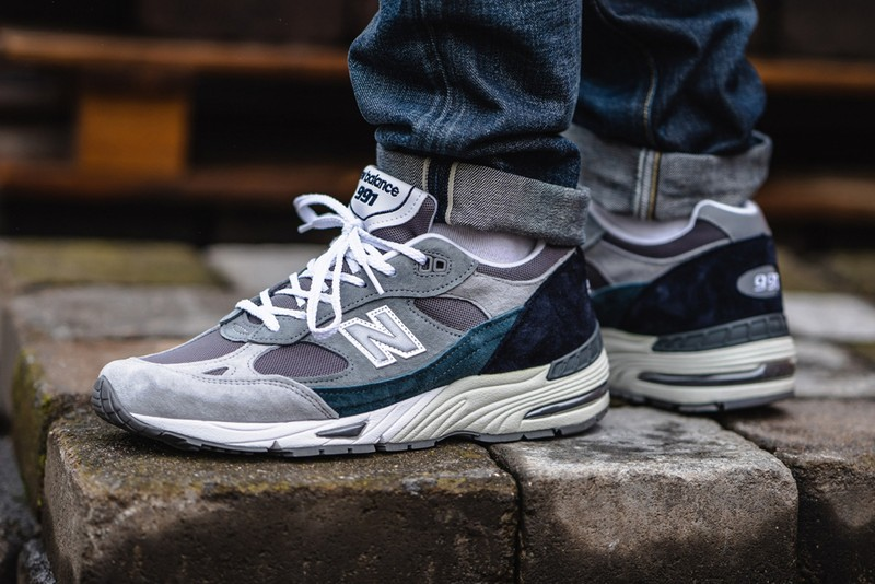 New Balance 991 Made in UK Offers Rich Grey and Blue Hues