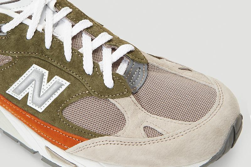 New Balance 991 Green suede leather abzorb midsole encap duo footwear sneakers kicks shoes trainers runners fall winter 2020 collection earth tone pigskin american maine Fearlessly Independent Since 1906