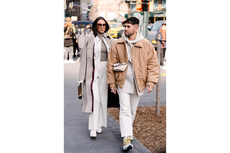 New York Fashion Week Men's Fall/Winter 2020 Street Style Menswear Footwear Womenswear Looks Sneakers Outerwear Undercover x Supreme Louis Vuitton Virgil Abloh Off-White x Nike Tom Sachs Mars Yard Dior Kim Jones Scarr's Pizza AF1