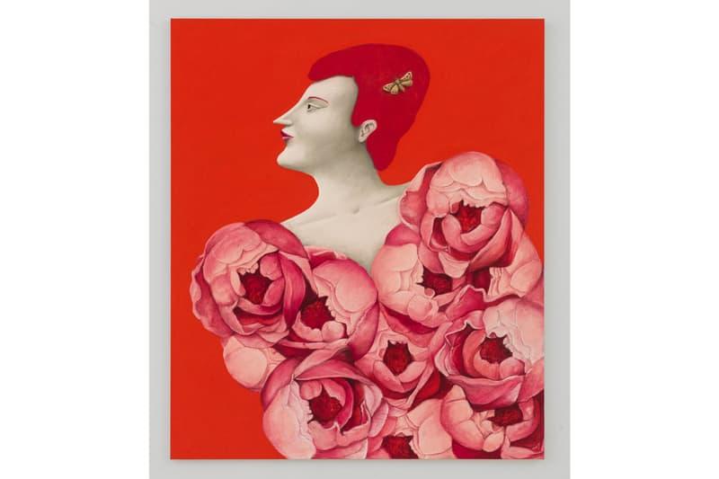 "Nicolas Party ""Sottobosco"" Hauser & Wirth Exhibit Paintings Sculptures Figures Mushrooms Snakes Flowers Trees Landscape Portraits"
