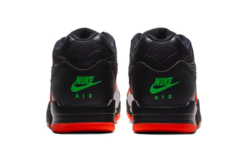 Nike Air Flight '89 Black Orange Blaze spring summer 2020 collection leather Ct8478 001 swoosh footwear sneakers shoes kicks trainers runners basketball jordan brand air jordan