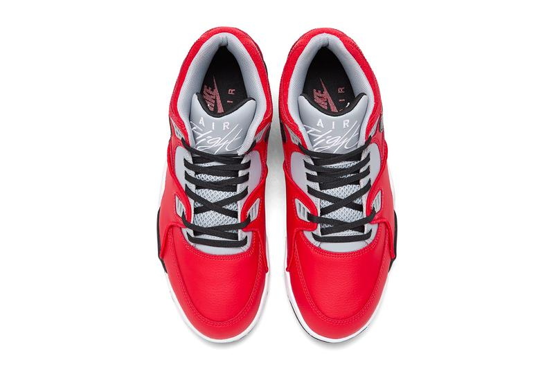 Nike Air Flight 89 Red Cement University Red Black Wolf Grey White CN5668 600 fall winter 2020 shoes sneakers kicks footwear basketball trainers runners performance swoosh streetwear