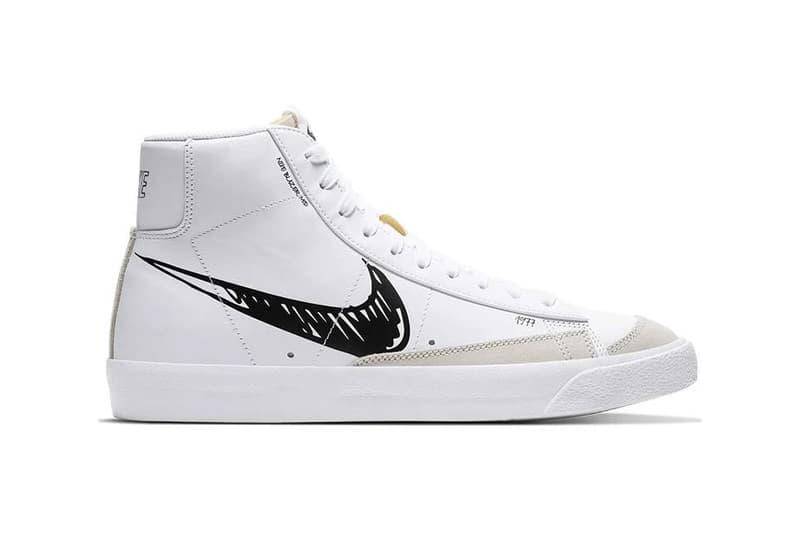 nike sportswear air force 1 low blazer mid sketch white black platinum tint CW7580 CW7581 101 release date info photos price