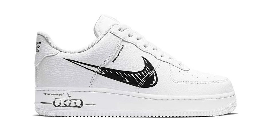 "Nike Air Force 1 and Blazer ""Sketch"" Feature Scribbled Stylings"