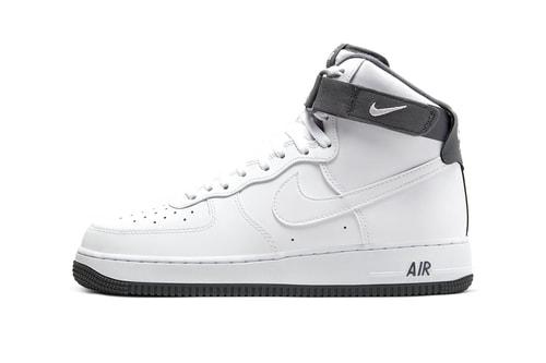 "Nike Air Force 1 High '07 Receives Minimal ""White/Dark Gray"" Makeover"