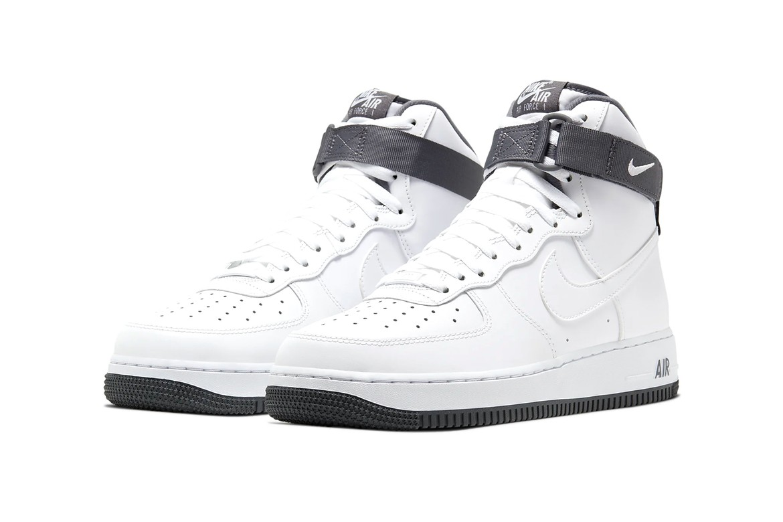 Nike Air Force 1 High 07 Lv8 2 White Dark Gray Hypebeast