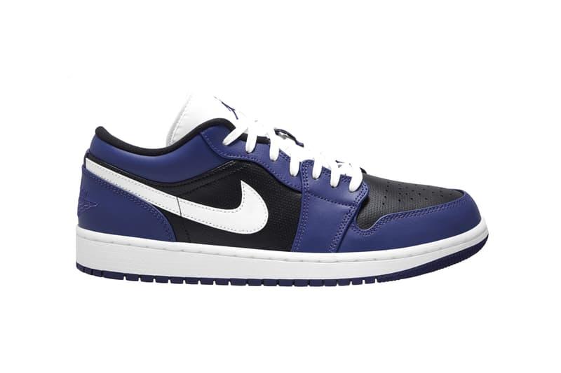 "Nike Air Jordan 1 Low ""Court Purple/White/Black"" ""Gym Red/White"" Drop Release Information Dates AJ1 Wings Basketball Sneaker Footwear Perforated Leather"