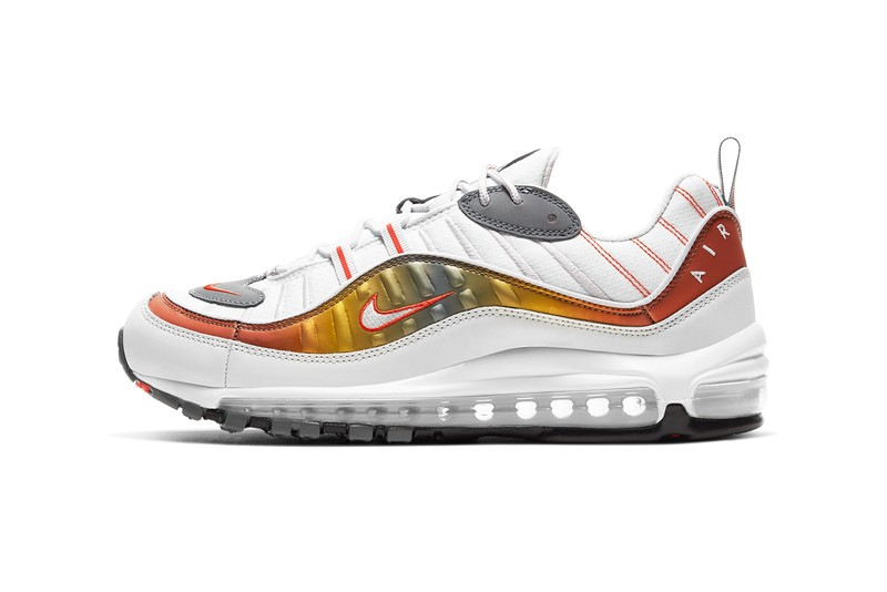 Nike Air Max 98, Air Max 270 React and Air Max 200 Get Metallic Gradients