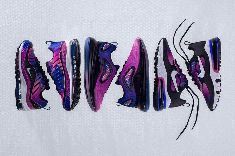 Nike Air Max Bubble Pack Full Look Release 90 270 98 720 Gradient Purple Blue Green iridescent