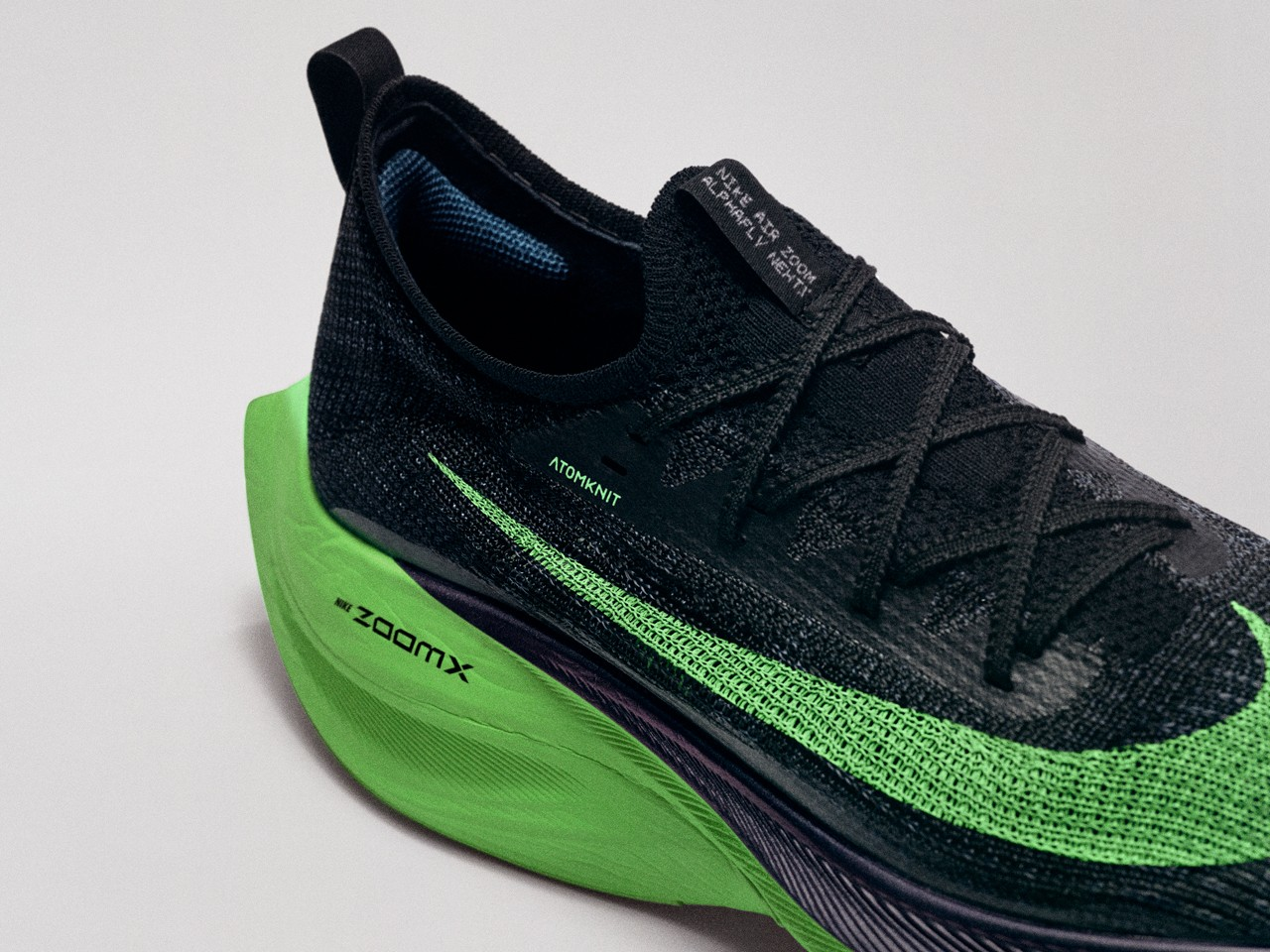 nike running 2020 olympic olympics tokyo footwear air zoom alpha fly tempo next percent track spikes victory viperfly alphafly flyknit banned shoes release date info photos price Atomknit track running sprinting marathon carbon fiber plates foam react