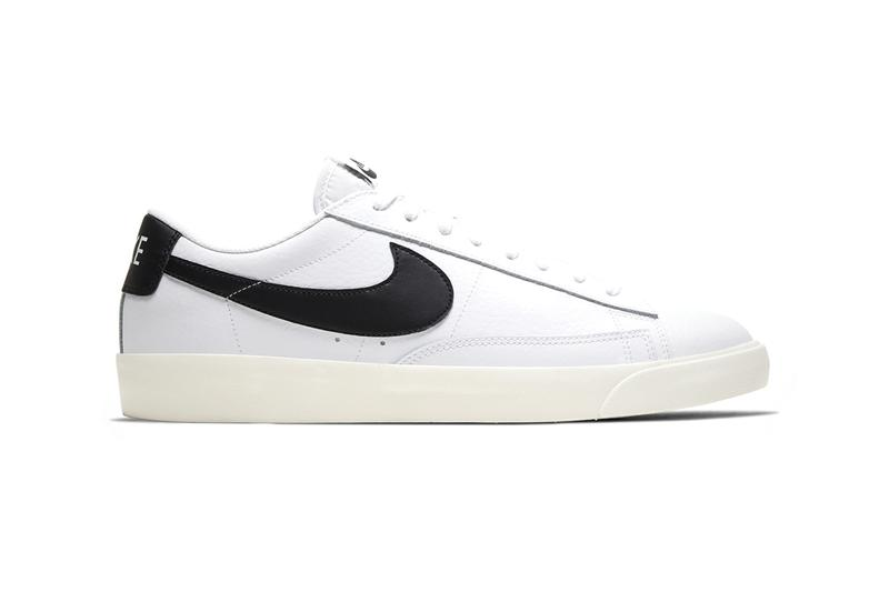 "Nike Blazer Low Leather Drops in Four Bold Colorways ""WHITE/VOLTAGE PURPLE-SAIL"" ""WHITE/LASER BLUE-SAIL"" ""WHITE/GREEN SPARK-SAIL"" WHITE/BLACK-SAIL"" Premium Materials Release Information Sneakers Footwear Swoosh Brand Vintage Retro"