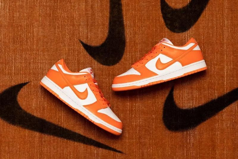 nike dunk low sp syracuse white orange be true to your school CU1726 101 release date info photos price