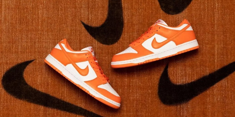 "Nike Dunk ""Syracuse"" Returns In Low-Top Form"