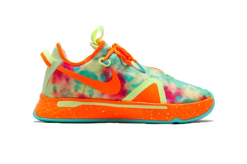 Gatorade Nike Drops PG 4 Barely Volt Total Orange VOLT PHOTO BLUE cd5086 700 paul george sneakers shoes footwear kicks trainers runners court basketball nba spring 2020 collection swoosh